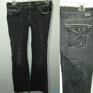 Women's silver pioneer jeans 30/33 actual 32